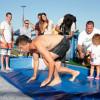 Macri Inauguró  un  Tobogán Acuático en el Parque de los Niños
