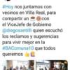 """D'ipolitto y Santilli se reunieron con Vecinos """"Elegidos  a Dedo"""""""